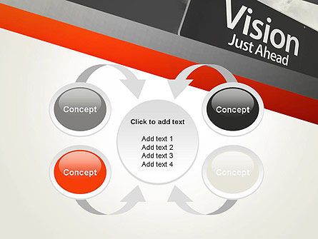 Vision Just Ahead Sign PowerPoint Template Slide 6
