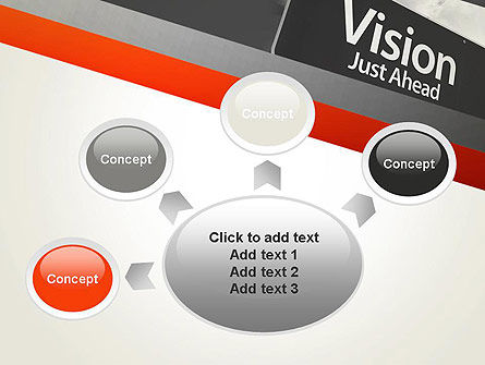 Vision Just Ahead Sign PowerPoint Template Slide 7