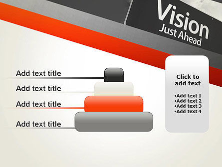 Vision Just Ahead Sign PowerPoint Template Slide 8