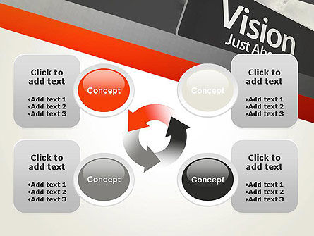 Vision Just Ahead Sign PowerPoint Template Slide 9