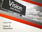 Business Concepts: Vision Just Ahead Sign PowerPoint Template #12752