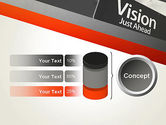 Vision Just Ahead Sign PowerPoint Template#11