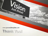 Vision Just Ahead Sign PowerPoint Template#20