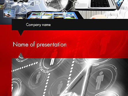 Technology and Science: Online Business Network PowerPoint Template #12753