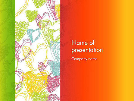 Holiday/Special Occasion: Positive Hearts PowerPoint Template #12755