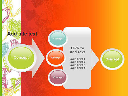 Positive Hearts PowerPoint Template Slide 17