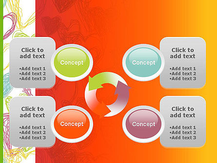 Positive Hearts PowerPoint Template Slide 9