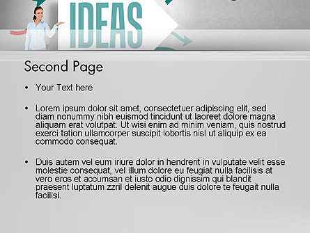Ideas Presentation PowerPoint Template, Slide 2, 12756, Business Concepts — PoweredTemplate.com