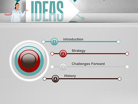 Ideas Presentation PowerPoint Template, Slide 3, 12756, Business Concepts — PoweredTemplate.com
