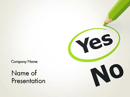 Say Yes PowerPoint Template, 12758, Education & Training — PoweredTemplate.com