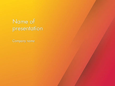 Orange Red Gradient PowerPoint Template
