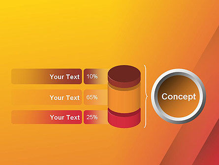 Orange Red Gradient PowerPoint Template Slide 11