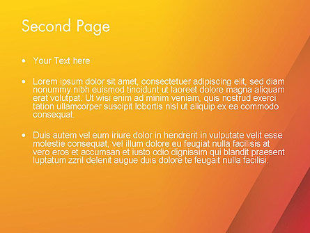 Orange Red Gradient PowerPoint Template Slide 2
