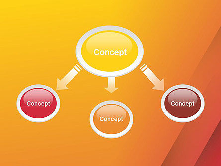 Orange Red Gradient PowerPoint Template Slide 4