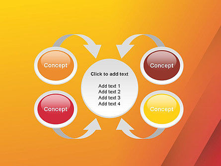 Orange Red Gradient PowerPoint Template Slide 6