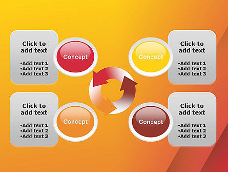 Orange Red Gradient PowerPoint Template Slide 9