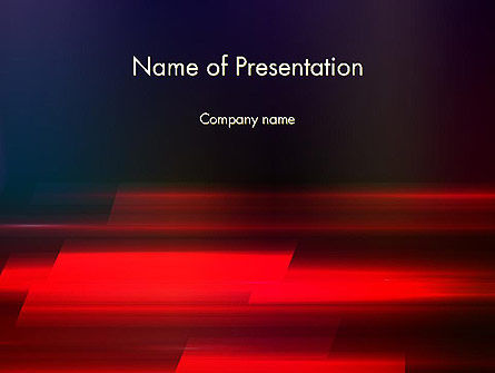Red Blur PowerPoint Template
