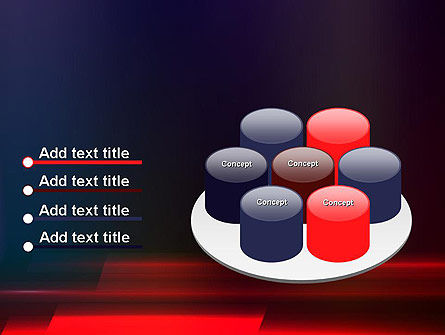 Red Blur PowerPoint Template Slide 12