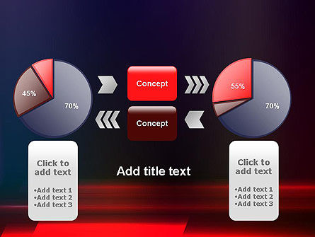 Red Blur PowerPoint Template Slide 16