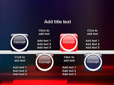 Red Blur PowerPoint Template Slide 18