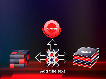 Red Blur PowerPoint Template Slide 19