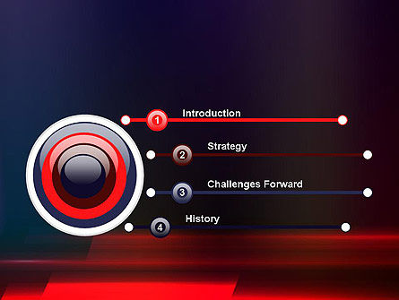 Red Blur PowerPoint Template Slide 3