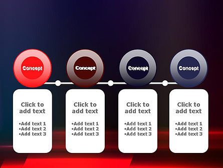 Red Blur PowerPoint Template Slide 5