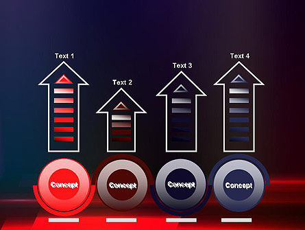 Red Blur PowerPoint Template Slide 7