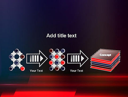 Red Blur PowerPoint Template Slide 9