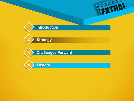 Extra Extra PowerPoint Template, Slide 3, 12769, Careers/Industry — PoweredTemplate.com