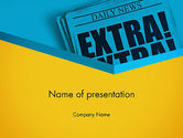 Careers/Industry: Extra Extra PowerPoint Template #12769