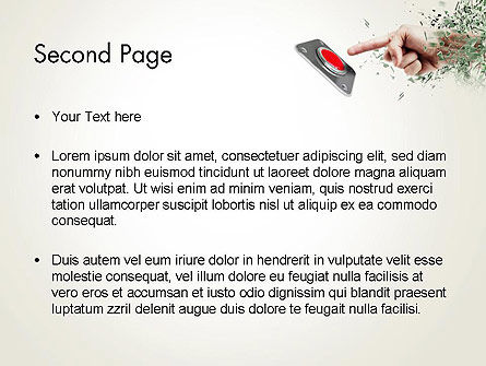 Call to Action Button PowerPoint Template Slide 2