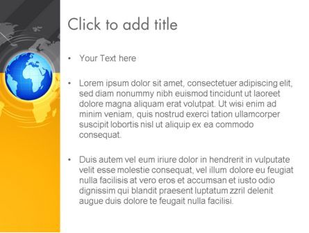 World Map and Globe PowerPoint Template, Slide 3, 12772, Global — PoweredTemplate.com