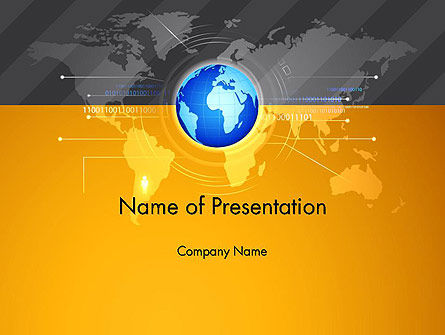 World Map and Globe PowerPoint Template