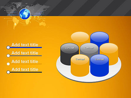 World Map and Globe PowerPoint Template Slide 12