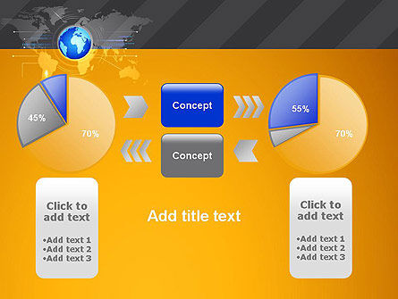 World Map and Globe PowerPoint Template Slide 16