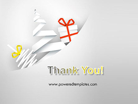 White Christmas Card PowerPoint Template Slide 20