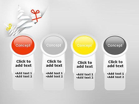 White Christmas Card PowerPoint Template Slide 5
