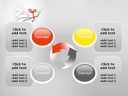 White Christmas Card PowerPoint Template Slide 9