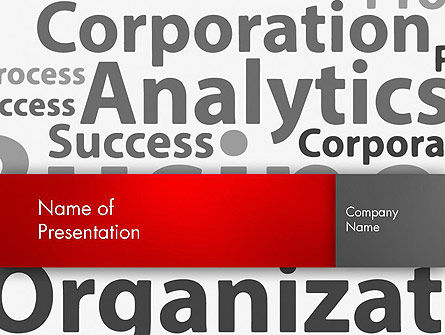Consulting: Corporation Analytics PowerPoint Template #12776