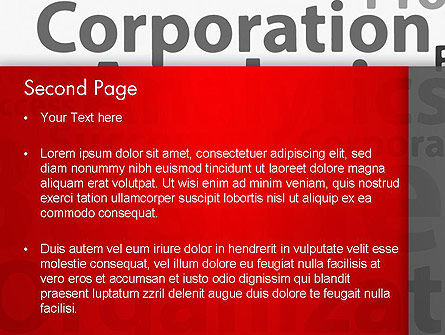 Corporation Analytics PowerPoint Template, Slide 2, 12776, Consulting — PoweredTemplate.com