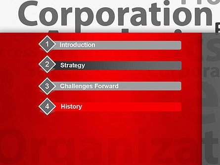 Corporation Analytics PowerPoint Template, Slide 3, 12776, Consulting — PoweredTemplate.com