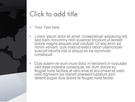 Globe with Geometric Layers PowerPoint Template, Slide 3, 12777, Global — PoweredTemplate.com