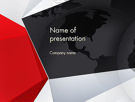 Globe with Geometric Layers PowerPoint Template, 12777, Global — PoweredTemplate.com