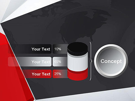 Globe with Geometric Layers PowerPoint Template Slide 11