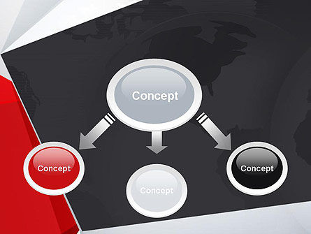Globe with Geometric Layers PowerPoint Template, Slide 4, 12777, Global — PoweredTemplate.com