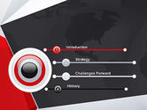 Globe with Geometric Layers PowerPoint Template#3