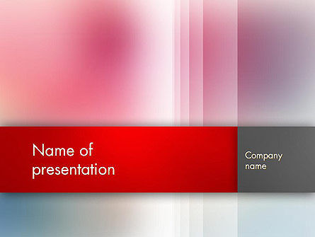 Abstract/Textures: Pink Blur PowerPoint Template #12778