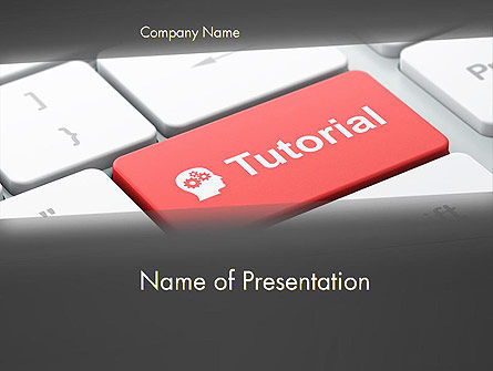 Consulting: Tutorial Button PowerPoint Template #12779