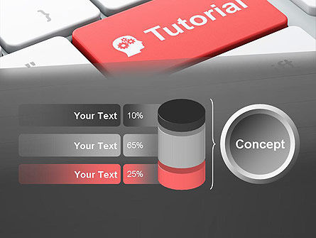 Tutorial Button PowerPoint Template Slide 11